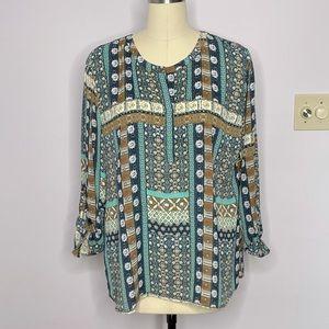 Van Heusen Boho Pullover Blouse Multicolored